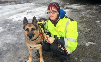 Schäfer assistanshund Hundhjälpen